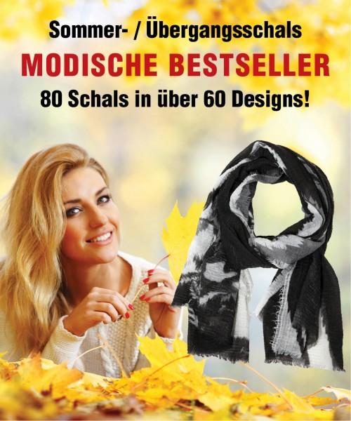 Bestseller bestehend aus Sommer- und Übergangsschals, VE 80