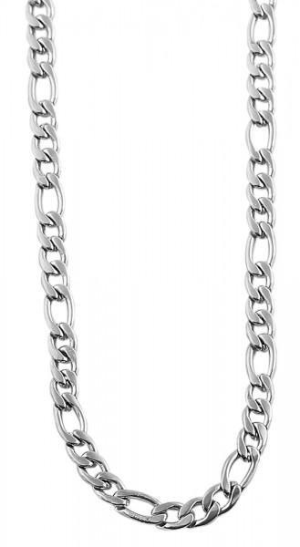 Akzent Edelstahl Unisex Figarokette, Länge: 70 cm / Stärke: 4 mm