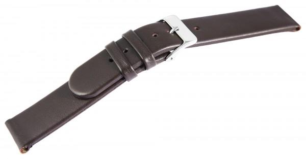 Basic Echtleder Armband in dunkelbraun, glatt