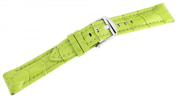 Echtleder-Uhrenarmband, hellgrün, 20 mm / 22 mm