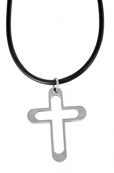 Akzent Kautschuk Halskette, Länge: 50 cm / Stärke: 2 mm