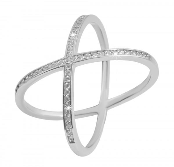 925 Silber Ring, 925/rhodiniert, 3,3g