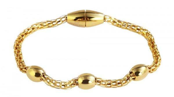 Just Kettenarmband aus Edelstahl in goldfarbig mit IP Gold-Beschichtung