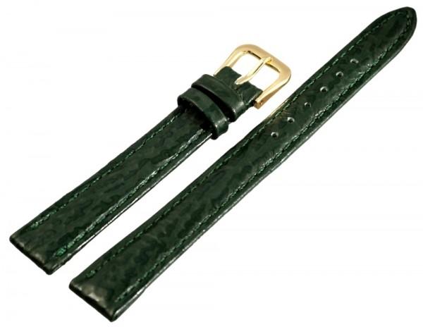 Basic Echtleder Armband in dunkelgrün, Haifisch, flach