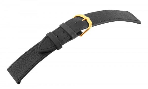 Echtleder-Uhrenarmbänder, schwarz, VE 12, 12 mm / 14 mm / 24 mm