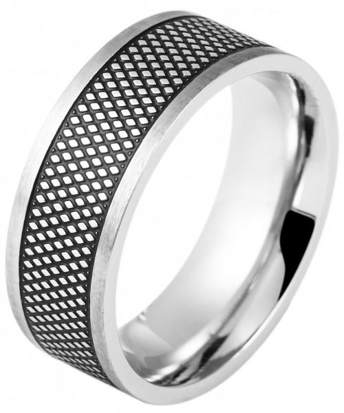 Akzent Herren-Ring aus Edelstahl