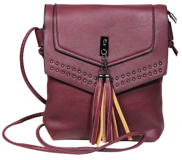 Damen Handtasche aus Lederimitat, Maße: 21 x 25 x 6 cm