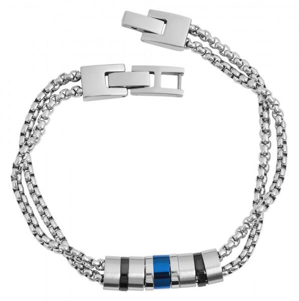 Akzent Edelstahl Armband, 21,5cm