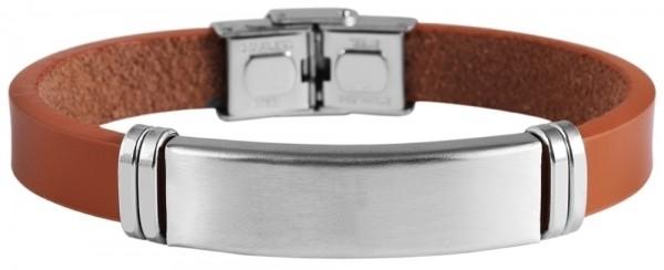 Akzent Armband aus Echtleder und Edelstahl