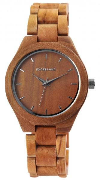 Excellanc Damenarmbanduhr aus Holz