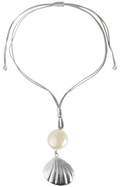 Cham Cham Textil Damen Halskette, Länge: 82 cm / Stärke: 4 mm