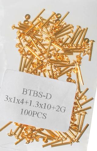 Mittelbandstege, Gold (VE 100 Stück) - 12mm