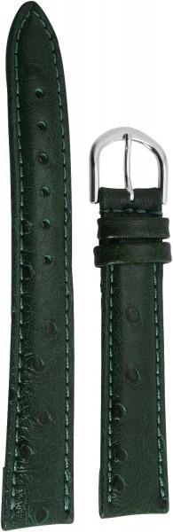 Basic PU-Leder Armband in dunkelgrün, glatt, gepolstert, 12 mm