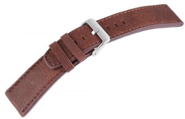 Echtleder-Uhrenarmband, dunkelbraun, 22 mm / 26 mm