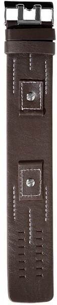Echtleder-Uhrenarmbänder im Set, dunkelbraun, 18 mm + 20 mm + 22 mm