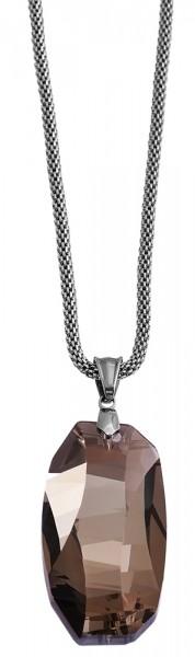 Akzent Edelstahl Damen Schlangenkette, Länge: 80 cm / Stärke: 3 mm