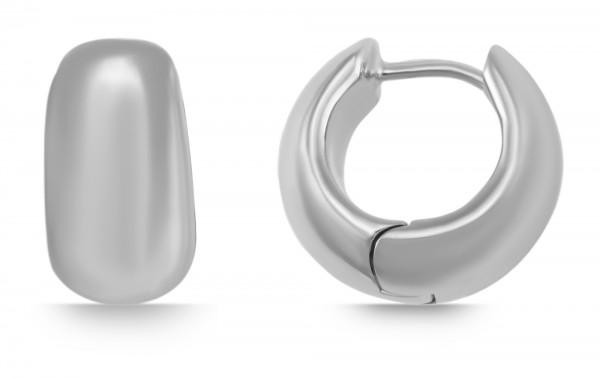 925 Echt Silber Klappcreolen, hochglanzpoliert, 925/rhodiniert