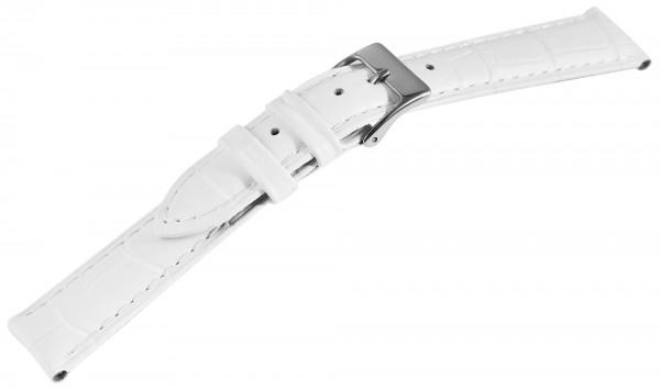 Basic Echtleder Armband, weiß, Kroko, gepolstert,