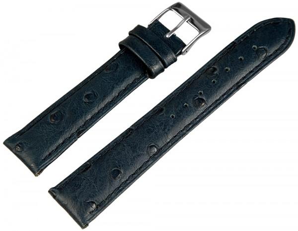 Hochwertiges Echt-Lederband, blau