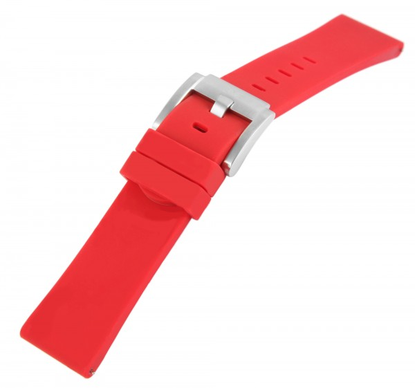 TW Steel Silikon-Uhrenarmband, rot, Dornschließe, 22 mm