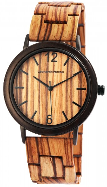 Leonardo Verrelli Damenuhr aus Holz