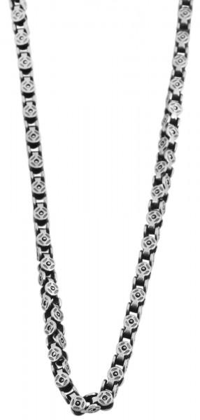 Akzent Edelstahl Unisex Halskette, Länge: 60 cm / Stärke: 4 mm