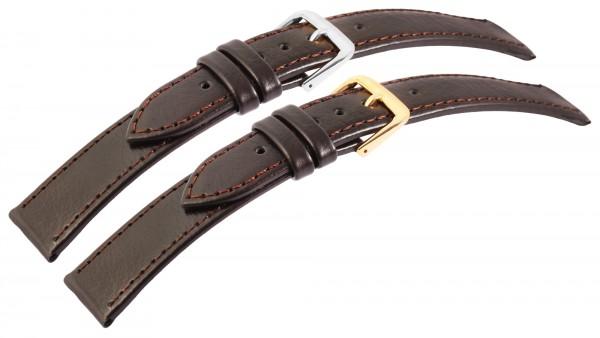 Echtleder-Uhrenarmbänder, dunkelbraun, VE 10, 18 mm / 20 mm