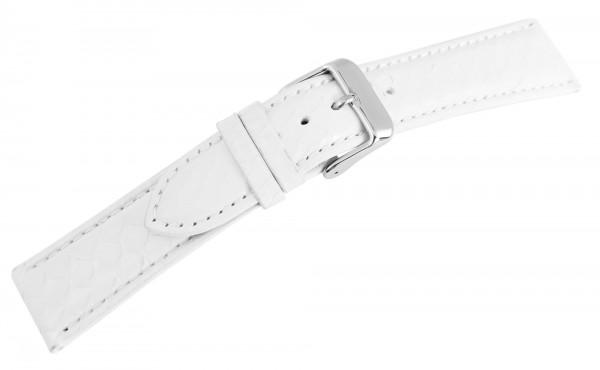 Echtleder-Uhrenarmband, weiß, 20 mm