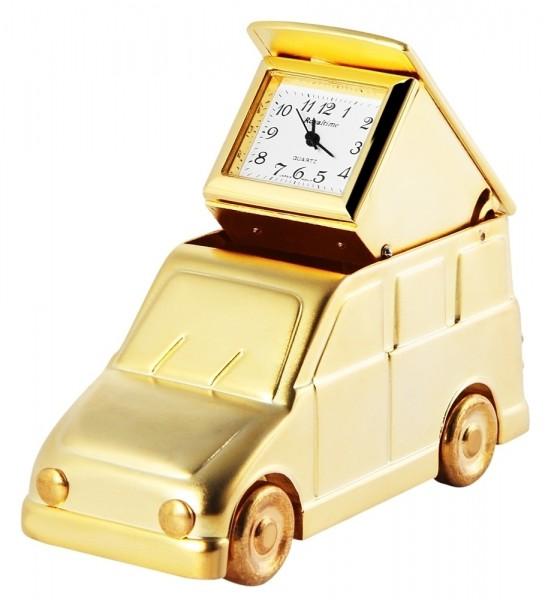 Royaltime Miniaturuhr - Reisevan - Größe 7,9 cm