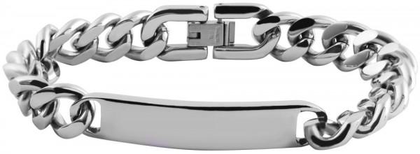 Akzent Panzerketten-Armband aus Edelstahl in silberfarbig
