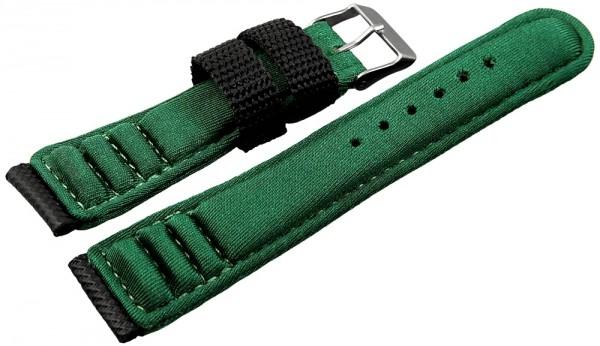 Basic Neopren Armband in dunkelgrün, glatt, gepolstert