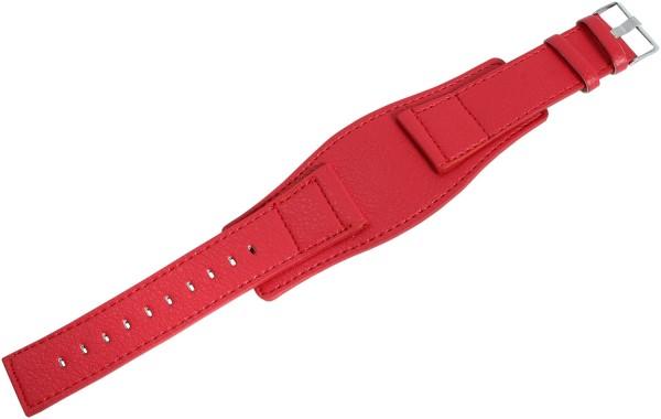 Lederimitation-Uhrenarmband, rot, 26 mm