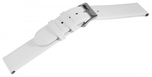 Echtleder-Uhrenarmband, weiß, 14 mm / 18 mm