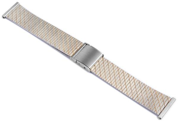Gliederband Edelstahl Armband in bicolor, 18 mm