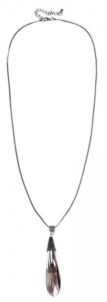 Metall Damen Schlangenkette, Länge: 77 cm / Stärke: 2 mm