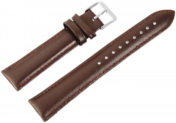 Echtleder-Uhrenarmbänder, braun, VE 10, 18 mm
