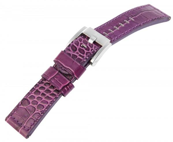 TW-Steel Echtleder-Uhrenarmband, lila, 22 mm