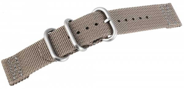 Nylon-Uhrenarmband, grau, Dornschließe, 20 mm / 22 mm