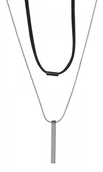 Akzent Edelstahl Damen Schlangenkette, Länge: 63 cm / Stärke: 4 mm
