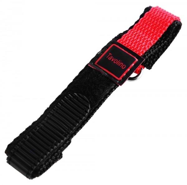 Klett-Uhrenarmband, schwarz/rot, 14 mm