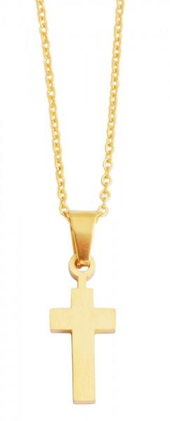 Akzent Edelstahl Unisex Halskette, Länge: 43 cm / Stärke: 1 mm