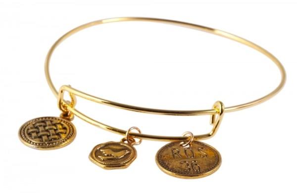 Armreif aus Metall in goldfarbig