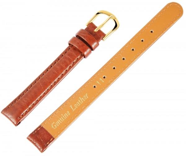 Echtleder-Uhrenarmband, braun, 11 mm