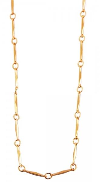 Akzent Edelstahl Damen Halskette, Länge: 50 cm / Stärke: 1 mm