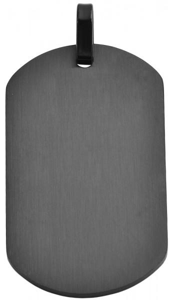Akzent Edelstahl Gravurplatte als Anhänger, Länge: 49 mm / Breite: 29 mm / Stärke: 2 mm