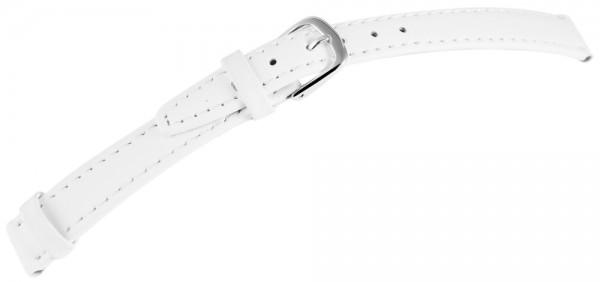 Echtleder-Uhrenarmband, weiß, 12 mm