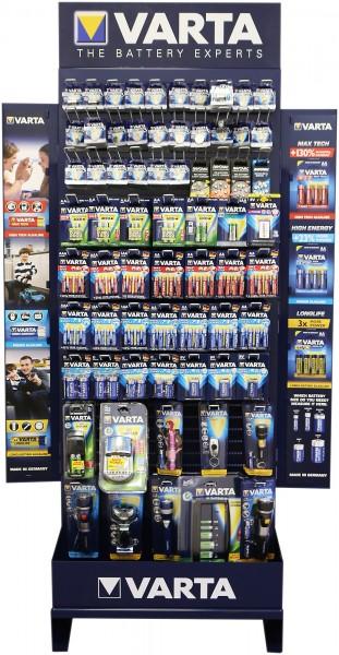 Varta Warenträger, bestückt mit 52 verschiedenen Artikeln, UVP Warenwert 3867,12 €