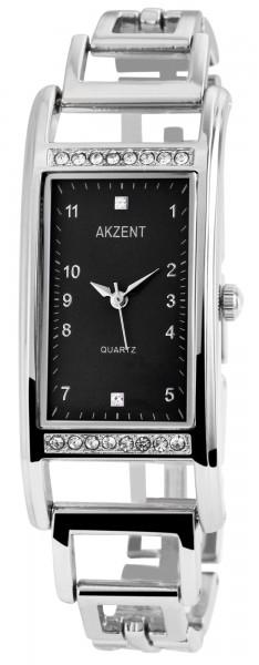 Akzent Damenuhr mit Metallarmband, 24 x 38 mm