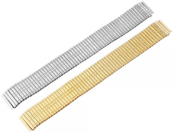 Zugband Metall Armband in silber, poliert, , 16 mm