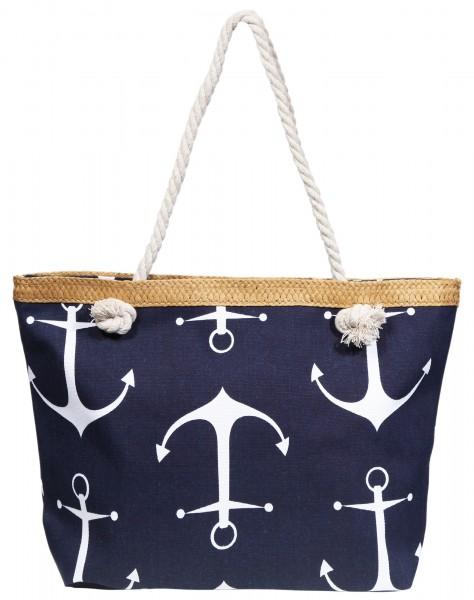 Damen Handtasche aus Textil, Maße: 50 x 33 x 12 cm